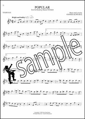 101 BROADWAY SONGS for Tenor Sax Saxophone Sheet Music Book Les Miserables