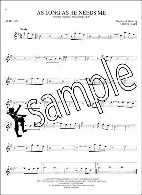101 Broadway Songs for Alto Sax Saxophone Sheet Music Book Les Miserables
