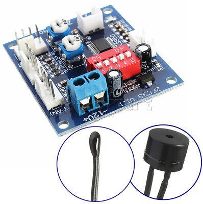 12V Dual Ways / PWM PC CPU Fan Digital Temperature Control Speed Controller UK 4