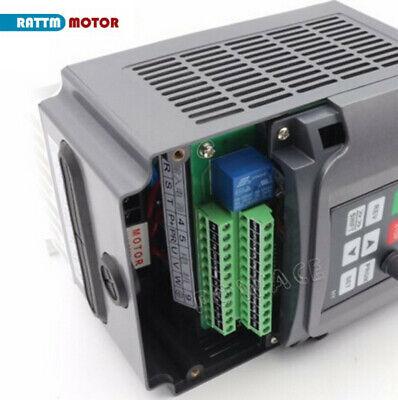 〖FR〗1.5KW Air cooled Spindle Motor ER16 220V& 1.5KW Inverter VFD& 80mm Clamp CNC 11