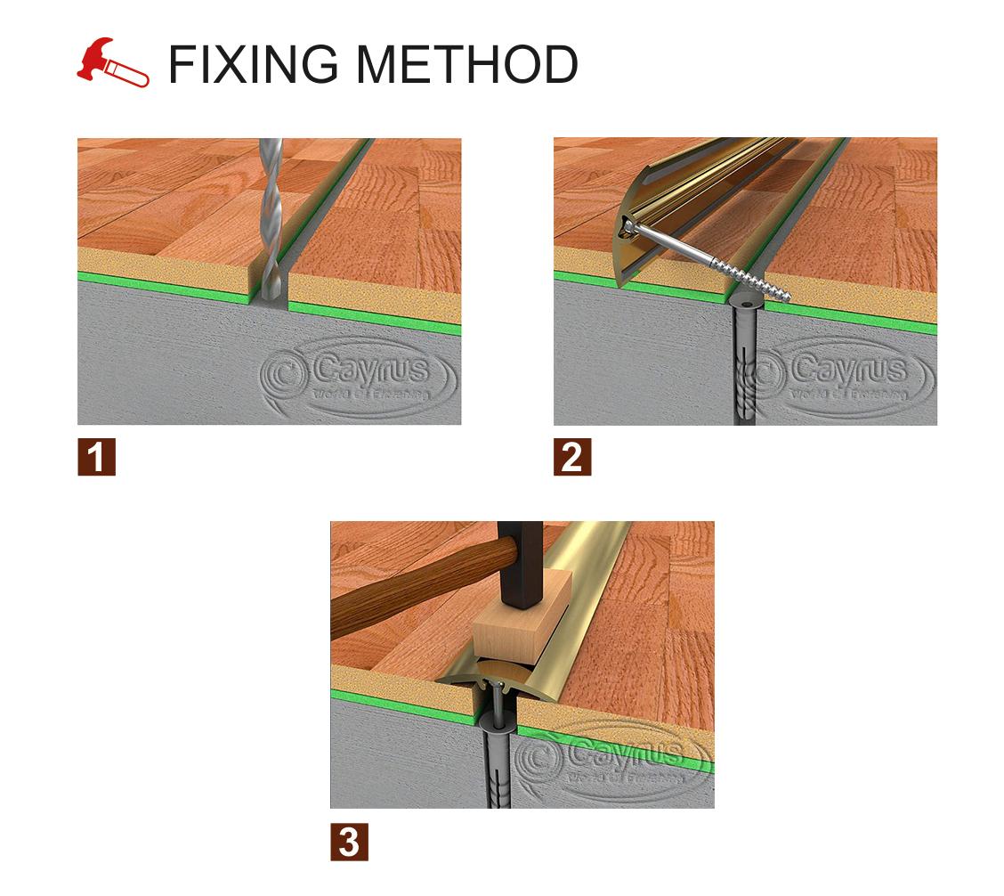 Threshold Strip transition trim for flooring door bar cover 32 40 50mm SILVER
