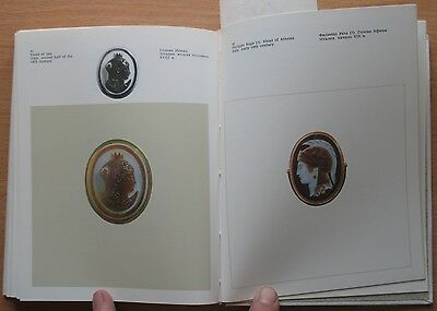 Russian Book Antique Cameo Art Old Miniature Portrait Stone Vintage European VTG 7