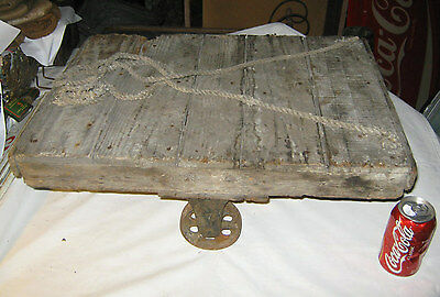 Antique Industrial Steampunk Cast Iron Castor Wheel Table Trolley Cart Stand Usa 6