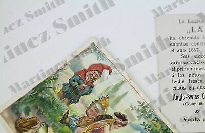ANTIQUE CONDENSED MILK Milkmaid Brand Fairies and Dwarfs Trading Cards