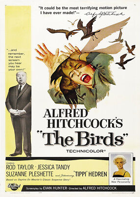 A3 The Birds Alfred Hitchcock Vintage Movie wall Home Posters Retro Art #10