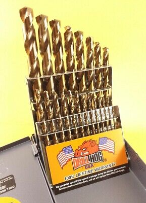 Drill Hog® 21 Pc COBALT M42 HSSCO Drill Bit Set Drill Index Lifetime Warranty 2