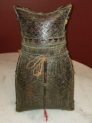 Antique Philippine Eccentric Shape Basket Aboriginal Type Circa 1860 Certificate 2