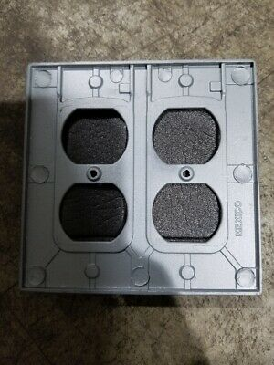New Steel City Red Dot Wr281-C Weather Proof 2 Gang Outlet Cover 2