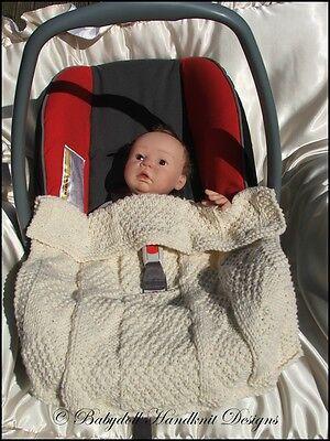 7knitting Patterns Babydoll Handknit Designs Car Seat Blankets