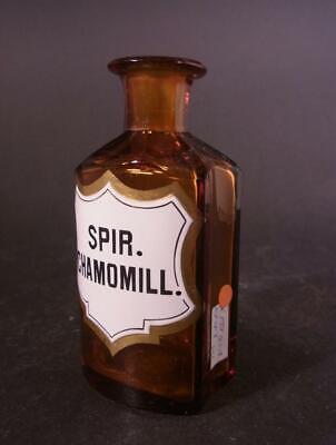 Apothekenflasche SPIR. CHAMOMILL., um 1900. 3