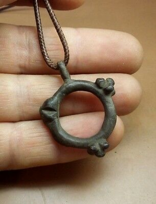 CELTIC Bronze Ancient Pendant ,Ring Money Proto Coin Circa 500 BC,Wearable #2910 5