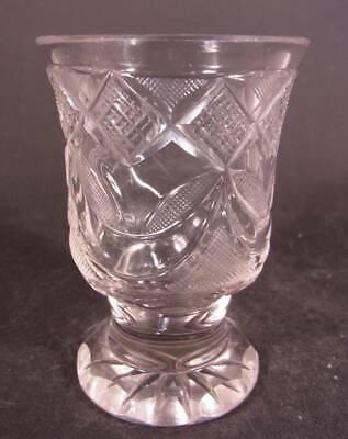 Biedermeier - Becherglas mit Schliffdekoration. Böhmen, um 1850. 3