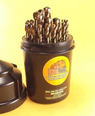 Drill Hog® 29 Pc Cobalt Drill Bit Set M42 Drills 1/16-1/2 100% Lifetime Warranty 4