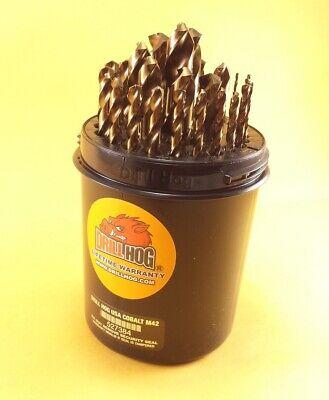 Drill Hog® 29 Pc Cobalt Drill Bit Set M42 Drills 1/16-1/2 100% Lifetime Warranty 2