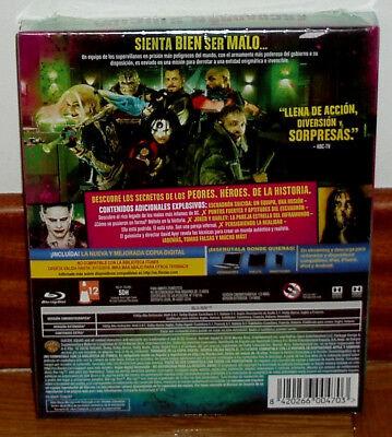 Escuadron Suicida Digibook Blu-Ray+Libro Precintado Nuevo Accion (Sin Abrir) R2 2