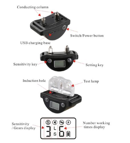 Rechargeble LCD Automatic Anti Bark No Barking Tone Shock Dog Training Collar 5