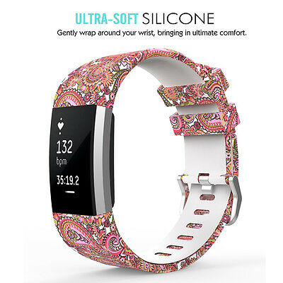 FLOWER STYLE WRISTBAND Band Bracelet Strap Accessories For Fitbit Charge 2  Bands