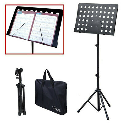 Adjustable Height Music Stand Note Holder Base Tripod Orchestral Conductor Sheet 12