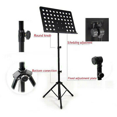 Adjustable Height Music Stand Note Holder Base Tripod Orchestral Conductor Sheet 8