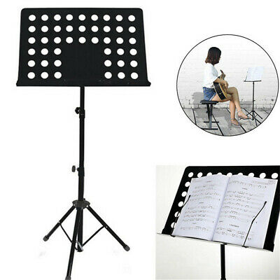 Adjustable Height Music Stand Note Holder Base Tripod Orchestral Conductor Sheet 4