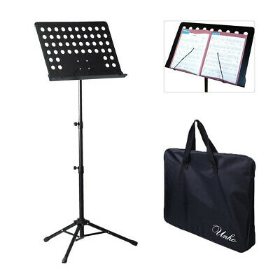Adjustable Height Music Stand Note Holder Base Tripod Orchestral Conductor Sheet 9