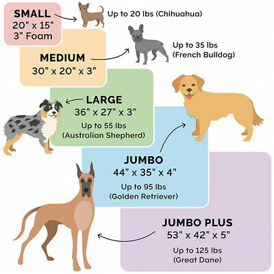 XXL Extra Large Jumbo Orthopedic Pet Dog Bed Dog Kennel Basket Pillow Waterproof 8