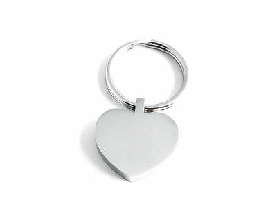Personalised Photo Text Engraved Heart Keyring Keychain -Great Mothers Day Gift! 4