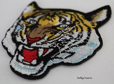 Tiger Bügelbild Aufnäher Applikation Patch Nähen Basteln Verzieren