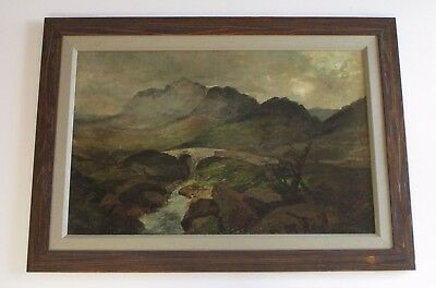 Mystery Artist Antique 19Th Century Painting Landscape River Stream Masterful 2