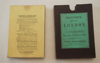Davies's Map of London and its Environs, 1910, boxed 5