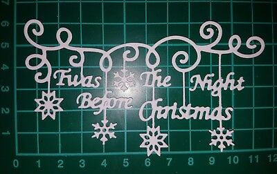 """Tattered Lace Noel Die Cut Toppers ~ /""""Twas the Night Before Christmas/"""""""