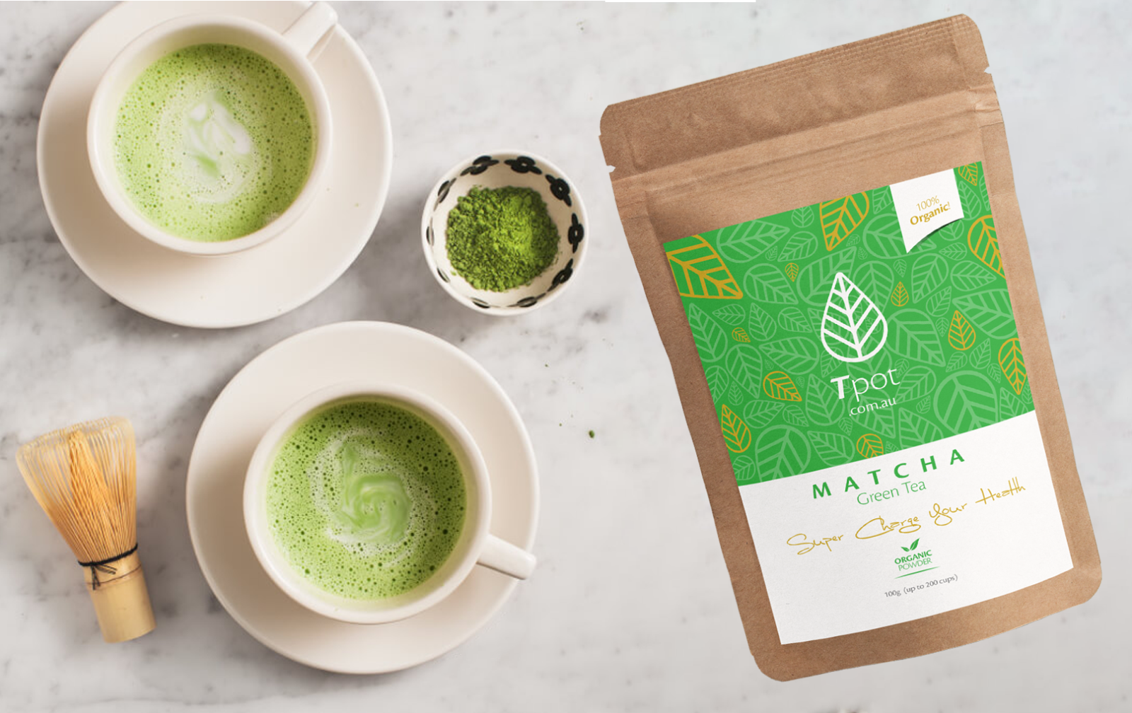 ORGANIC Japanese Matcha Green Tea Powder - Latte - Up to 200 Serves 5