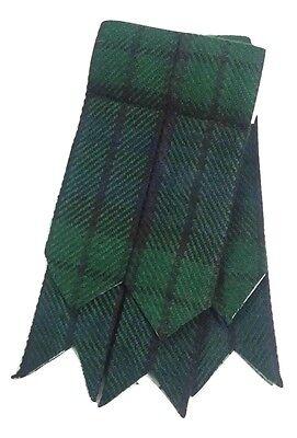 New Mens Kilt Flashes Black Watch Tartan/Scottish Kilt Hose Sock Flashes Tartans 3