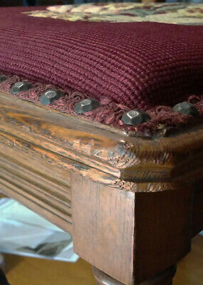 Antique carved-back spindle chair with petit-point seat 7