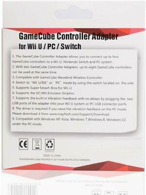 MAYFLASH 4 Port GameCube Controller Adapter - Nintendo Switch, Wii U and PC USB 4