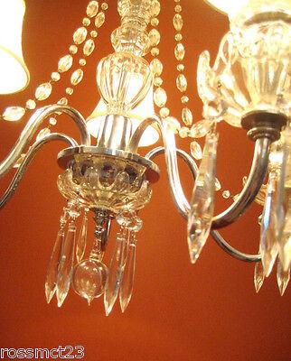 Vintage Lighting antique 1930s crystal chandelier   Rare Stunning 4