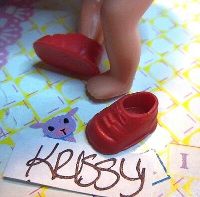 Krissy Happy Family Kiddle Doll Clothes 2 Red Mini Shoes BOGO LOOK 10 Pics/READ 9