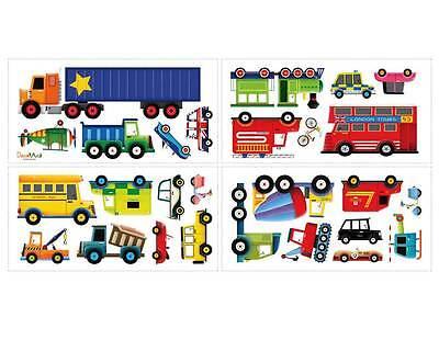 10 Von 11 Wandsticker Auto Wandtattoo Feuerwehr Transporter Autos Kinderzimmer Jungen
