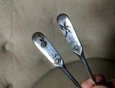 W & S SORENSEN DENMARK Sterling Hans Christian Andersen Demitasse Spoon Set of 6 5
