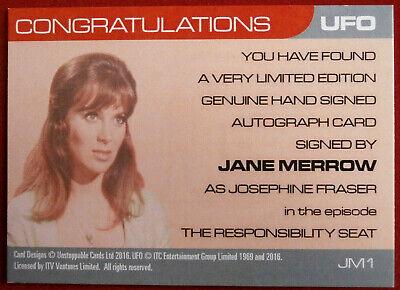 UFO AUTOGRAPH CARD Jane Merrow as Josephine Fraser JM2