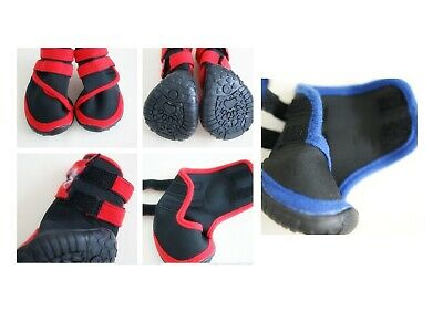 Dog Cat Shoes Waterproof XXS,XS,S,M,L,XL,XXL Boots Booties Paws Injury Red/Blue 2