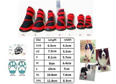 Dog Cat Shoes Waterproof XXS,XS,S,M,L,XL,XXL Boots Booties Paws Injury Red/Blue 3