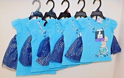Disney Frozen Little Girls 2-Piece Elsa T shirt & Scooter Skirt Set OFFICIAL DIS 9