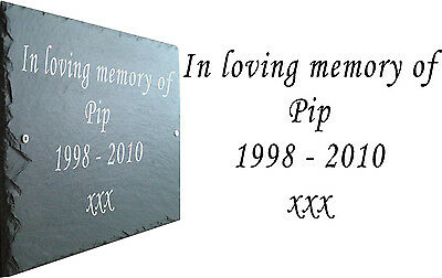 Pet Memorial Slate Plaque Personalised for Bird / Parrot / McCaw 3