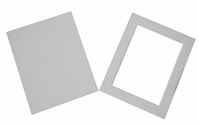 PACK OF 5 Acid Free White Bevel Cut Mounts & Backing Boards & Self Seal Bags 3