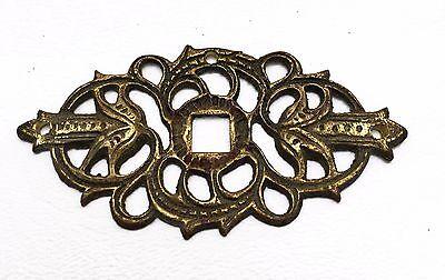 Brass Antique Hardware Vintage Drawer Pull Victorian Cabinet Knob Handle 3