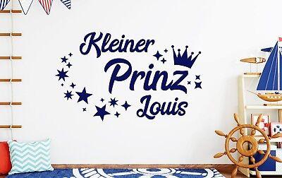 WANDTATTOO BABYZIMMER NAME Wandtattoo junge name kleiner Prinz Namen ...