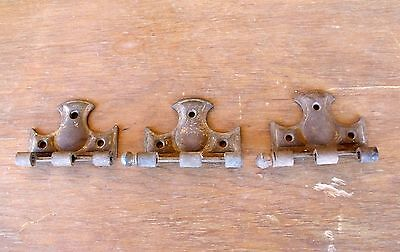 3 Rusty Antique Vintage Decorative Hinge Halves & 1 Ball Shaped Pin Re-Purpose 6