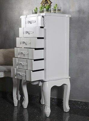 Chest Of Drawers Cabinet Chiffonier Bedside Table Antique French Style White 3