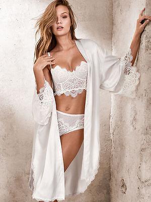 2924138a1bd9 ... Victoria s Secret Dream Angels Floral Long line demi bra Boho white  mini Bustier 11